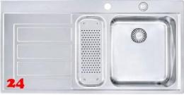 FRANKE Küchenspüle Epos EOX 251 Einbauspüle Slimtop / Flächenbündig mit Druckknopfventil