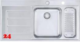 FRANKE Küchenspüle Epos EOX 261 Einbauspüle Slimtop / Flächenbündig mit Druckknopfventil