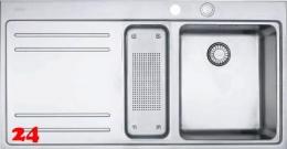 FRANKE Küchenspüle Mythos MTX 251 Einbauspüle Slimtop / Flächenbündig mit Druckknopfventil
