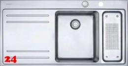 FRANKE Küchenspüle Mythos MTX 261 Einbauspüle Slimtop / Flächenbündig mit Druckknopfventil