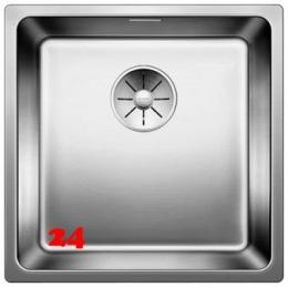 BLANCO Küchenspüle Andano 400-IF Edelstahlspüle / Einbauspüle Flachrand mit Ablaufsystem InFino und Handbetätigung