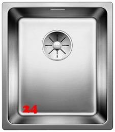 BLANCO Küchenspüle Andano 340-U Edelstahlspüle / Unterbaubecken mit Ablaufsystem InFino und Handbetätigung