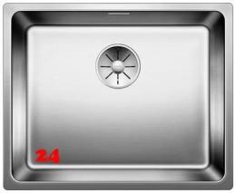 BLANCO Küchenspüle Andano 500-U Edelstahlspüle / Unterbaubecken mit Ablaufsystem InFino und Handbetätigung