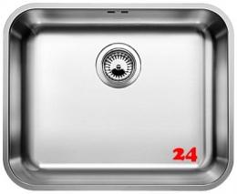 BLANCO Küchenspüle Supra 500-U Edelstahlspüle / Unterbaubecken mit Siebkorb als Stopfenventil und Handbetätigung
