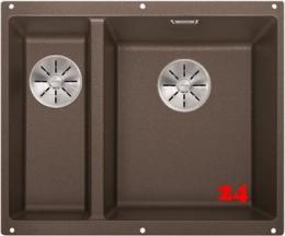 BLANCO Subline 340/160-U Silgranit® PuraDur®II Granitspüle / Unterbaubecken Ablaufsystem InFino mit Handbetätigung