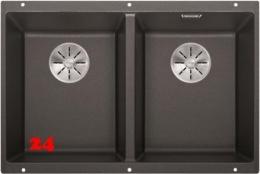 BLANCO Subline 350/350-U Silgranit® PuraDur®II Granitspüle / Unterbaubecken Ablaufsystem InFino mit Handbetätigung