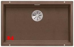BLANCO Subline 700-U Silgranit® PuraDur®II Granitspüle / Unterbaubecken Ablaufsystem InFino mit Handbetätigung