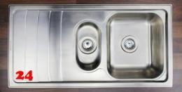 {Lager} BERNUS Amaya 60 Einbauspüle / Küchenspüle Siebkorb als Stopfen- oder Drehknopfventil