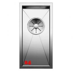 BLANCO Küchenspüle Zerox 180-U Edelstahlspüle / Unterbauspüle mit Ablaufsystem InFino und Handbetätigung