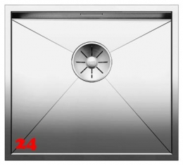 BLANCO Küchenspüle Zerox 450-U Edelstahlspüle / Unterbauspüle mit Ablaufsystem InFino und Handbetätigung