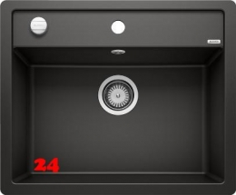 BLANCO Küchenspüle Dalago 6 F Silgranit® PuraDur®II Granitspüle Flächenbündig mit Hahnlochbank und Drehknopfventil