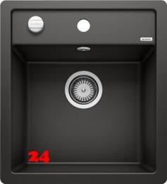 BLANCO Küchenspüle Dalago 45 F Silgranit® PuraDur®II Granitspüle Flächenbündig mit Hahnlochbank und Drehknopfventil