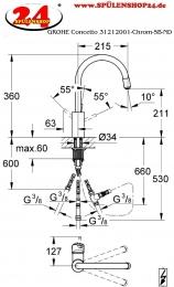 modell grohe concetto 31212001 markenprodukt der firma. Black Bedroom Furniture Sets. Home Design Ideas