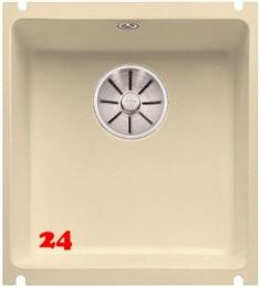 BLANCO Küchenspüle Subline 375-U Keramik PuraPlus® Keramikspüle / Unterbauspüle Ablaufsystem InFino mit Handbetätigung