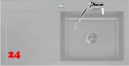 Systemceram KeraDomo MERA 100-SL-PREMIUM Keramikspüle / Einbauspüle in Sonderfarben für die Küche