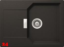 SCHOCK Küchenspüle Manhattan D-100S Cristalite® Granitspüle / Einbauspüle Basic Line in 4 Farben mit Drehexcenter