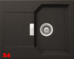 SCHOCK Manhattan D-100XS Cristalite® Granitspüle / Einbauspüle in 4 Farben mit Drehexcenter