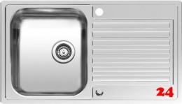 REGINOX Küchenspüle Centurio L10 Einbauspüle Edelstahl mit Flachrand Siebkorb als Drehexcenterventil
