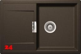 SCHOCK Küchenspüle Mono D-100 Cristadur® Nano-Granitspüle / Einbauspüle in 9 Farben mit Drehexcenter