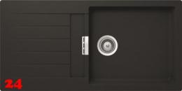SCHOCK Küchenspüle Primus D-100L Cristalite® Granitspüle / Einbauspüle Basic Line in 4 Farben mit Drehexcenter