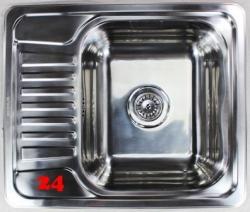 {Lager} BERNUS Arlett 45 Small Einbauspüle / Küchenspüle Siebkorb als Stopfen- oder Drehknopfventil