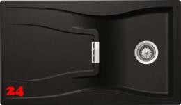 SCHOCK Küchenspüle Waterfall D-100-FB Cristadur® Nano-Granitspüle flächenbündig in 4 Farben mit Drehexcenter