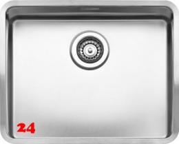 REGINOX Kansas 50x40-FL Einbauspüle Edelstahl 3 in 1 mit Flachrand Siebkorb als Stopfenventil
