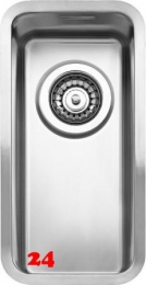 REGINOX Küchenspüle Ohio 18x40 (L) OKG Einbauspüle Edelstahl 3 in 1 mit Flachrand Siebkorb als Stopfenventil
