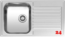 REGINOX Centurio R10 Einbauspüle Edelstahl mit Einbaurand Siebkorb als Stopfenventil