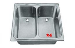 BLANCO ED 7,1x5,8 Edelstahlspüle / Einbau Doppelschwenkbecken ohne Überlauf mit Standrohrventil für Einbau in Arbeitsplatte