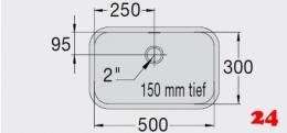 BLANCO E 5x3x1,5 [201483] Einschweißbecken für Einbau in Edelstahlarbeitsplatten Beckentiefe 150mm