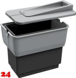 BLANCO Abfalltrennsystem Singolo Abfallsammler zum Einbau an Drehtüren mit Abdeckung ab 45cm Unterschrank