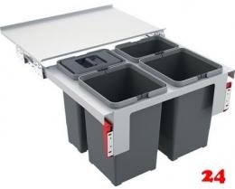 {LAGER} FRANKE Sorter Garbo 60-4 Einbau-Abfallsammler / Mülltrennsystem in 4-fach Trennung Frontauszug