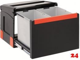 FRANKE Sorter Cube 50-2 Einbau-Abfallsammler / Mülltrennsystem in 2-fach Trennung hinter Drehtür