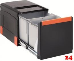 FRANKE Sorter Cube 41-2 Einbau-Abfallsammler / Mülltrennsystem in 2-fach Trennung hinter Drehtür