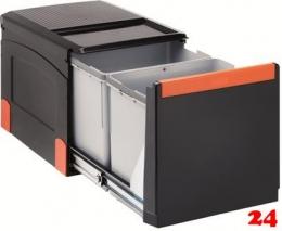 FRANKE Sorter Cube 40-2 Einbau-Abfallsammler / Mülltrennsystem in 2-fach Trennung hinter Drehtür