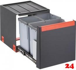 FRANKE Sorter Cube 40-3 Einbau-Abfallsammler / Mülltrennsystem in 3-fach Trennung hinter Drehtür