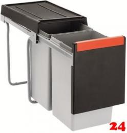 FRANKE Sorter Cube 30-2-1 Einbau-Abfallsammler / Mülltrennsystem in 2-fach Trennung hinter Drehtür