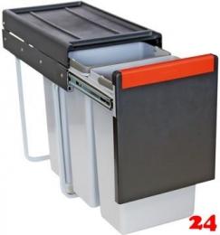 FRANKE Sorter Cube 30-3 Einbau-Abfallsammler / Mülltrennsystem in 3-fach Trennung hinter Drehtür