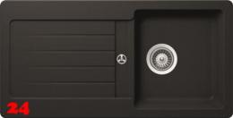 x SCHOCK Küchenspüle Typos D-100S Cristalite® Granitspüle / Einbauspüle Basic Line in 4 Farben mit Drehexcenter