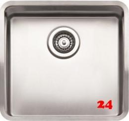 REGINOX Clean & Care Kansas 40x40 (L) KG-CC 25cm Tief Einbauspüle Edelstahl mit Flachrand 3 in 1 ohne Überlauf medizinischer Bereich