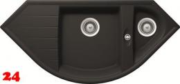 Schock Küchenspüle Genius C-150 Cristalite® Granitspüle / Eckspüle Basic Line in 4 Farben mit Drehexcenter