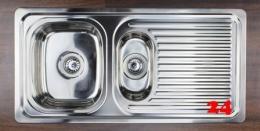 {Lager} BERNUS Anko 60 Edelstahlspüle / Küchenspüle Siebkorb als Stopfen- oder Drehknopfventil