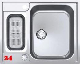 FRANKE Küchenspüle Argos G AGX 260 G Einbauspüle Slimtop / Flächenbündig mit Druckknopfventil