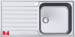 FRANKE Küchenspüle Argos G AGX 211-100 G Einbauspüle Slimtop / Flächenbündig mit Druckknopfventil