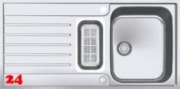 FRANKE Küchenspüle Argos G AGX 251 G Einbauspüle Slimtop / Flächenbündig mit Druckknopfventil