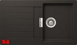 Schock Küchenspüle Primus D-100 Cristalite® Granitspüle / Einbauspüle Basic Line in 4 Farben mit Drehexcenter