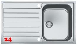FRANKE Küchenspüle Argos G AGX 211 G Einbauspüle Slimtop / Flächenbündig mit Druckknopfventil