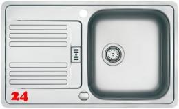 FRANKE Küchenspüle Euroform EFX 214-78 Einbauspüle Slimtop / Flächenbündig mit Drehknopfventil