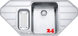 FRANKE Küchenspüle Epos EOX 252-E Eckspüle Slimtop / Flächenbündig mit Druckknopfventil
